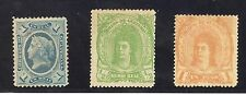 GUATEMALA-WILLIAM III -1875/8-3 STAMPS-Y&T nr.9, 11 and 14