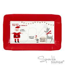 Vigilia di Natale Trattare piatto x2-Mince Pie Piastra Per Babbo Natale & Rudolph/Padre Natale