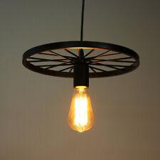 Lámpara Colgante De Techo Estilo Vintage Moderno Lámpara de Araña Rueda Luces UK