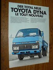 Prospectus Fourgon TOYOTA DYNA Camion Truck LKW Prospekt Brochure
