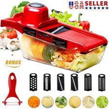 Manual Vegetable Food Slicer Potato Cutter Stainless Steel Mandoline Kitchen USA