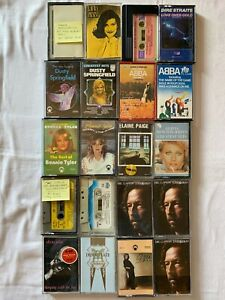 20 old cassette tapes , various artists.