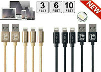 3/6/10Ft For iPhone Charger USB Cable For iPhone 6 7 8 Plus iPhone 11 XR Xs Max