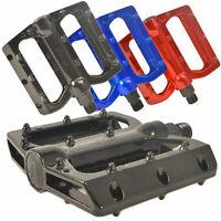 """Lumintrail MTB BMX Platform Bike Pedals Big Foot Aluminum Alloy 9/16"""" Flat Road"""