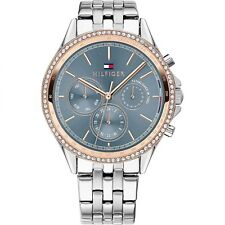 Tommy Hilfiger 1781976 Frauen Silber Ton Stein gesetzt Armbanduhr