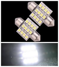 2Pcs White 31mm 12V C5W 12 SMD 12 Led Festoon Dome LED Interior Reading Lights