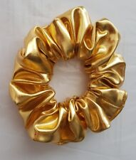 Shiny Metallic Gold Hair Scrunchie (Other colours available)