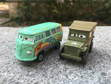 Mattel Disney Pixar Cars Sarge & Fillmore 2pcs Metal Toy Cars New Loose