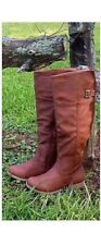 NWB Womens Riding Boots under knee BROWN flat Sizes 5 up to Size 10