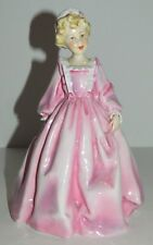 Freda Doughty Royal Worcester Figurine - GRANDMOTHER'S DRESS - Pink