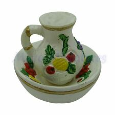 Dolls House Floral Jug & Bowl 1/12th Scale (02273)