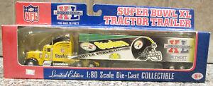 RARE NIP UPPER DECK PITTSBURGH STEELERS SUPER BOWL XL TRACTOR TRAILER 1:80 SCALE