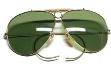B&L Ray Ban 1/10 12K GF 62[]XX Gold Aviator Shooters Vintage Sunglasses G7