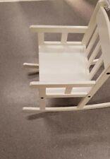 Ikea Enfants Fauteuil À bascule en Blanc bois massif Wippstuhl Chaise pour & OVP