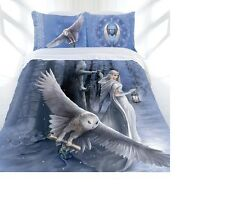 ANNE STOKES - MIDNIGHT MESSENGER Queen Bed Quilt/Doona Cover Set