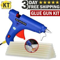 Electric Hot Melt Glue Gun Kit with Glue Sticks Repair Tool Heat DIY Art Crafts