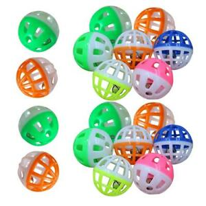 18Pcs Pet Cat Kitten Play Balls With Jingle Bell Pounce Chase Rattle Toy  #s