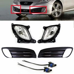 10-11-12 Genesis Coupe OEM Fog Lamps Right & Left With Covers & Connectors 6pcs
