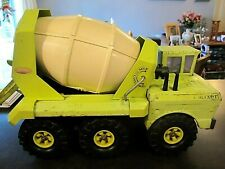 1972 MIGHTY TONKA LIME GREEN PRESSED STEEL READY MIX CEMENT MIXER - #3950