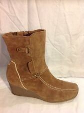 Tamaris Brown Ankle Suede Boots Size 41