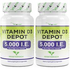 2x Vitamin D3 5000IU IE  = 1000 Tabletten Vit4ever Sonnenschein Vitamin D3