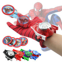 Superhero Launchers Gloves Batman Spiderman Cosplay Prop Kids Boy Toys Xmas Gift