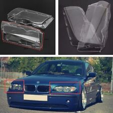 1 Pair Right+Left Headlight Lenses Cover Clearly Fit BMW 3 Series E46 325i 98-01