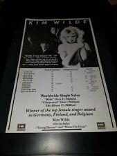 Kim Wilde Kids In America Rare Original Radio Promo Poster Ad Framed! #3