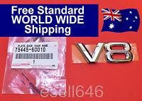 GENUINE TOYOTA V8 LAND CRUISER + LEXUS CHROME BADGE LOGO EMBLEM 75445-60010 NEW