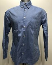 Esprit Original Denim Blue Cotton Botton Down Men Long Sleeve Size Medium