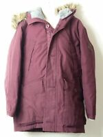 GIRLS GAP KIDS AGE 8-9 YEARS MAROON HOODED PADDED QUILTED COAT JACKET KIDS