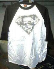 WB SUPERMAN CAMO LOGO WHITE  COTTON T-SHIRT JERSEY  L