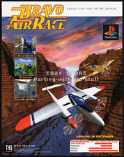 BRAVO AIR RACE__Original 1997 Trade Print AD/ video game poster__PlayStation_THQ