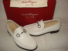 100% AUTHENTIC NEW MEN FERRAGAMO GIOSTRA DRIVERS/LOAFERS US 6.5 EE