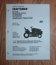 CRAFTSMAN 917.273080 LAWN TRACTOR OWNERS MANUAL WITH ILLUSTRATED PARTS LIST