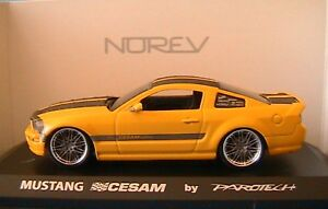 FORD MUSTANG PAROTECH CESAM 2007 NOREV 270540 1/43 NEW CONCEPT JAUNE YELLOW