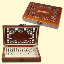 Domino Spiel In Holzbox Geschenk Dominospiel