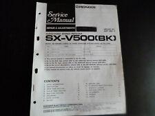 Original Service Manual Schaltplan  Pioneer  SX-V500