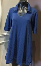 VIgorella Tunic Wool Arctic Blue 3/4 Sleeve Collared new with flaw