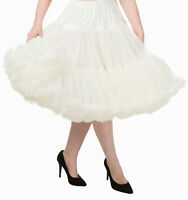 "BANNED 50s Rockabilly 26"" SUPER SOFT Light Petticoat Under Skirt Ivory"