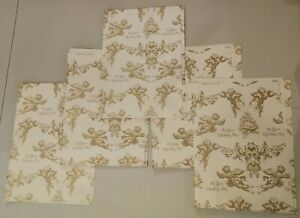 Vintage Retro Wedding Wrapping Paper Gift Wrap Pieces - scrapbooking, crafts