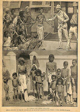 INDES ANGLAISES ENGLISH INDIA FAMINE GRAVURE ENGRAVING ADP 1902