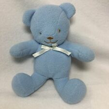 "Baby Gear Blue Fleece Teddy Bear Plush Soft Toy 7"" Stuffed Animal"