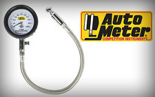 Auto Meter Analog Tire Pressure Gauge with Peak & Hold (Bleed Valve) 0-100 Psi