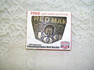 Red Man Belt Buckle  100th Anniversary Commemorative 1904 - 2004