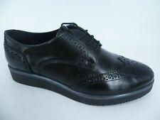 Pier One Ladies Brogue Lace Up Shoes Black UK 5 EU 38 LN47 43