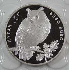 Ukraine 2002 Silver Proof 10 Hryvnia Owl Coin C0310