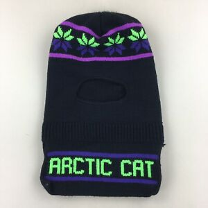 Vintage Arctic Cat Knit Beanie Face Mask Snowmobile Ski Snowboard Hat One Size