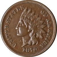 1870 Indian Cent Nice XF Great Eye Appeal Nice Strike