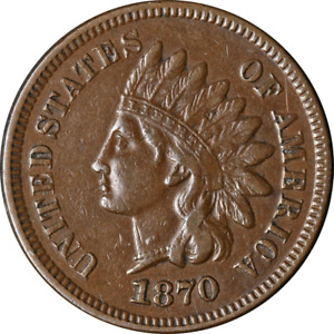 1870 Indian Cent Nice XF Great Eye Appeal Nice Strike